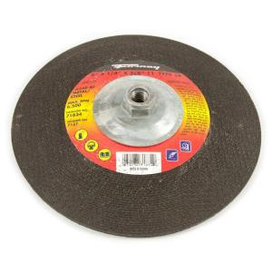 Forney 9 inch x 1/4 inch x 5/8 in.-11 Threaded Metal Type 28 Grinding Wheel by Forney