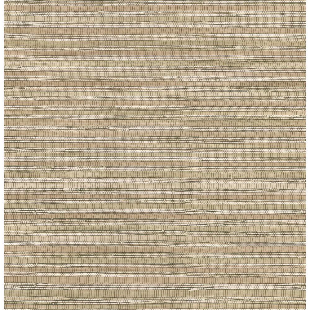 Brewster Northwoods Lodge Brown Grasscloth Wallpaper Sample