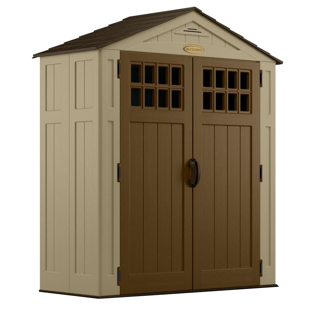 9 in x 6 ft 275 in resin - Garden Sheds 5 X 9