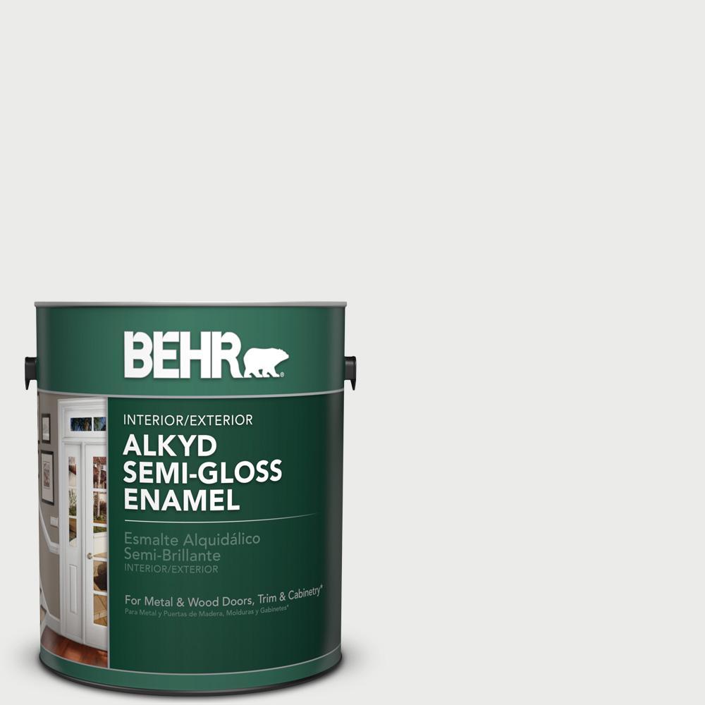 1 gal. #BL-W14 White Semi-Gloss Enamel Alkyd Interior/Exterior Paint