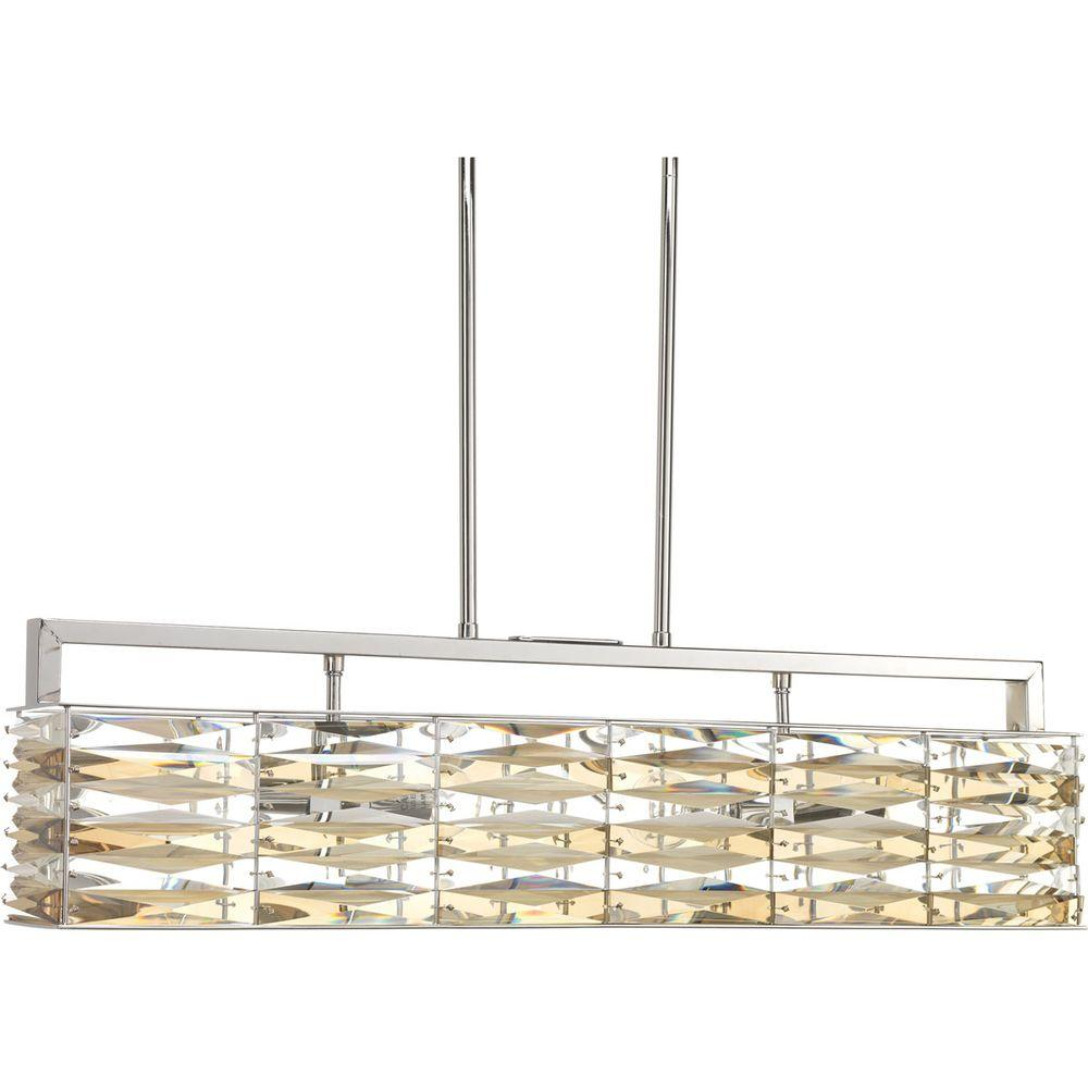 Progress Lighting The Pointe Collection 4-Light Polished Chrome Pendant with Clear And Ch&agne Glass  sc 1 st  Home Depot & Progress Lighting The Pointe Collection 4-Light Polished Chrome ... azcodes.com