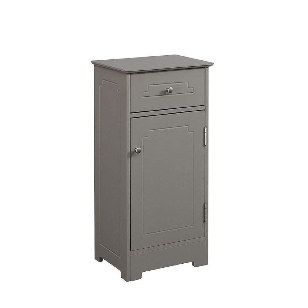 15-3/4 in. W x 11-3/4 in. D x 32 in. H Bathroom Linen Floor Cabinet in Modern Gray