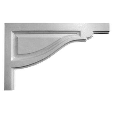 1/2 in. x 11-3/4 in. x 7-3/8 in. Polyurethane Right Large Traditional Stair Bracket Moulding