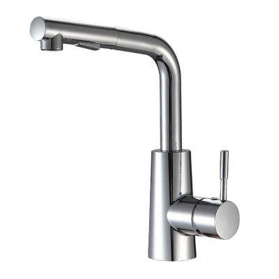Single-Handle Pull-Out Sprayer Kitchen Faucet with Deck Plate in Luxury Chrome Finish