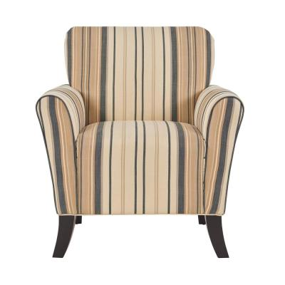 Sasha Flared Brown and Black Stripe Arm Chair