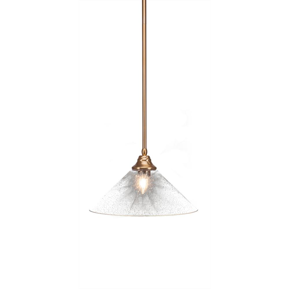 Filament Design 1-Light New Age Brass Pendant with 16 in. Clear Bubble Glass