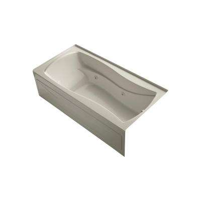 Mariposa 6 ft. Acrylic Right Drain Hourglass Rectangular Alcove Whirlpool Bathtub in Sandbar