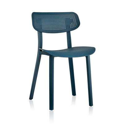 Branson Deep Blue Tilting Backrest Chair (Set of 2)