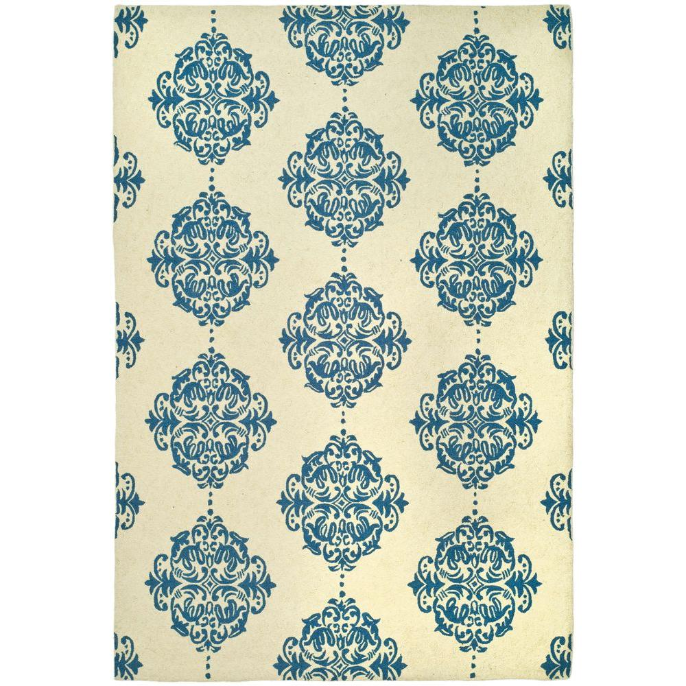 Chelsea Ivory/Blue 3 ft. 9 in. x 5 ft. 9 in.