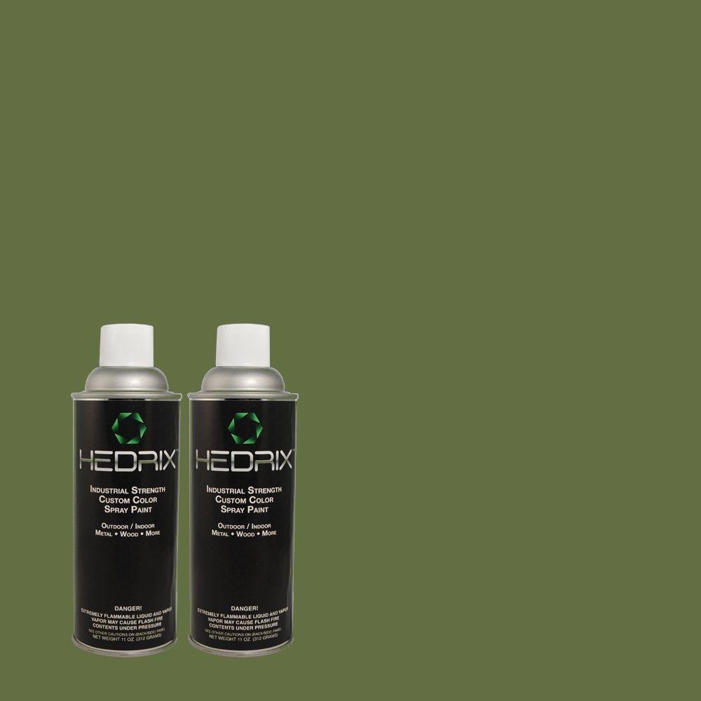 Hedrix 11 oz. Match of 2B59-6 Sherwood Low Lustre Custom Spray Paint (2-Pack)