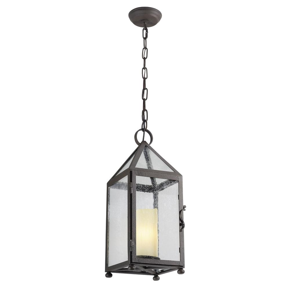Troy Hidden Hill 1-Light Centennial Rust Outdoor Pendant