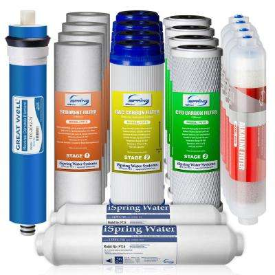 MS® 75 GPD Membrane RO//DI Filter Replacement Fit iSpring RCC7AK 6-Stage System