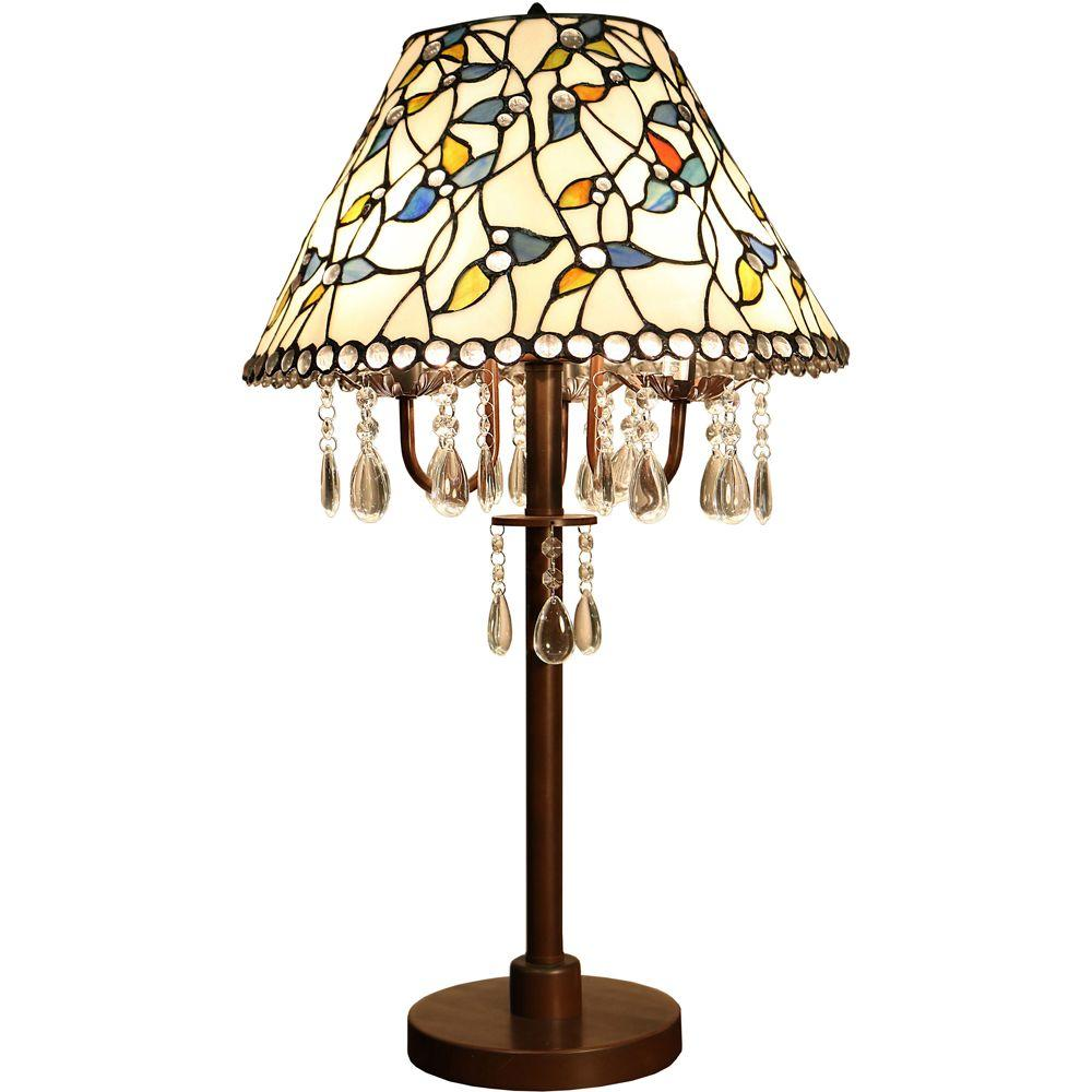 Amia 29 In Bronze Indoor Table Lamp With Crystal And