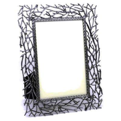 Twig Picture Frame 4 X 6 In., Gray color, Metal Frame