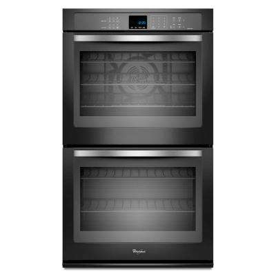 Gold 30 in. Double Electric Wall Oven Self-Cleaning with Convection in Black Ice