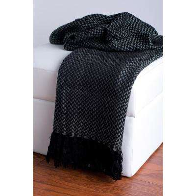 50 in. x 60 in. Black Throw