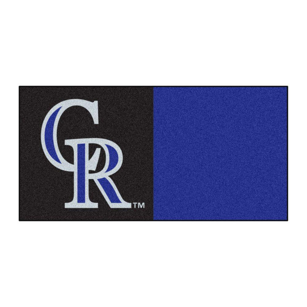 MLB - Colorado Rockies Black and Blue Nylon 18 in. x