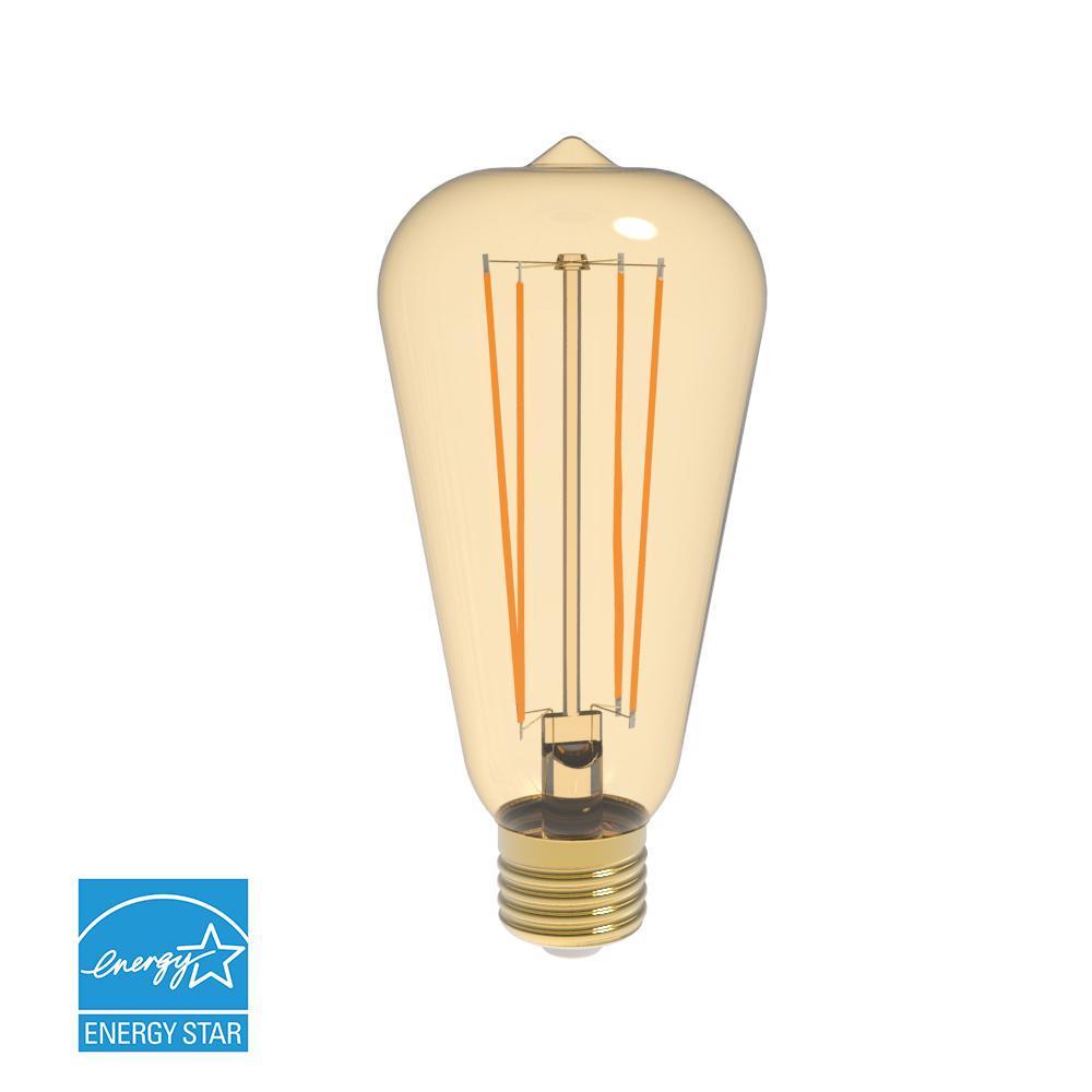 Elegant Lighting 40w Equivalent Soft White E26 Dimmable: Archipelago 40W Equivalent Warm White T9 Amber Lens