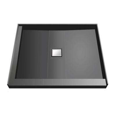 36 in. x 36 in. Double Threshold Shower Base with Center Drain