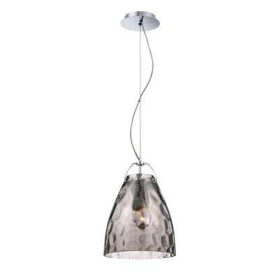 Amero Collection 1-Light Chrome and Smoke Pendant