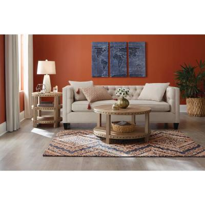 Cypress Charcoal/Rust 5 ft. x 7 ft. Medallion Area Rug