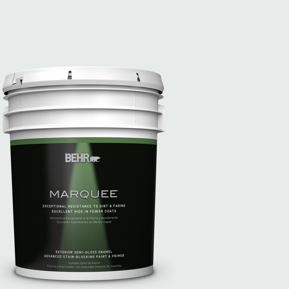5-gal. #BL-W5 Dusting Powder Semi-Gloss Enamel Exterior Paint