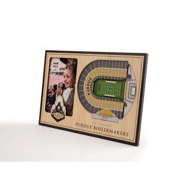 NCAA Purdue Boilermakers Team Colored 3D StadiumView with 4 in. x 6 in. Picture Frame