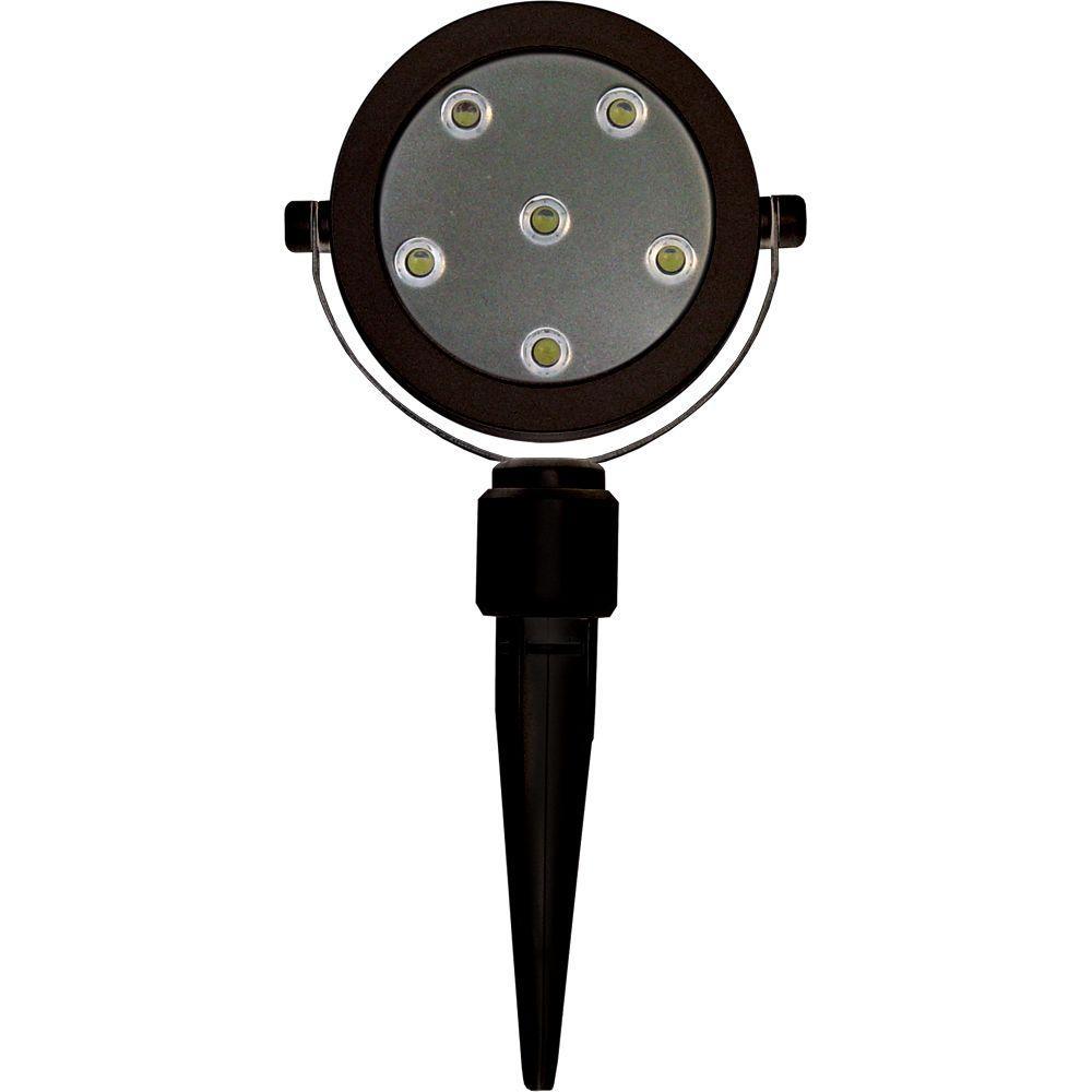 6-Light Black Plant Accent LED Spotlight