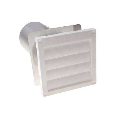 7 in x 6.5 in. Flush Mount Louvered Flapper for Dryer Vents