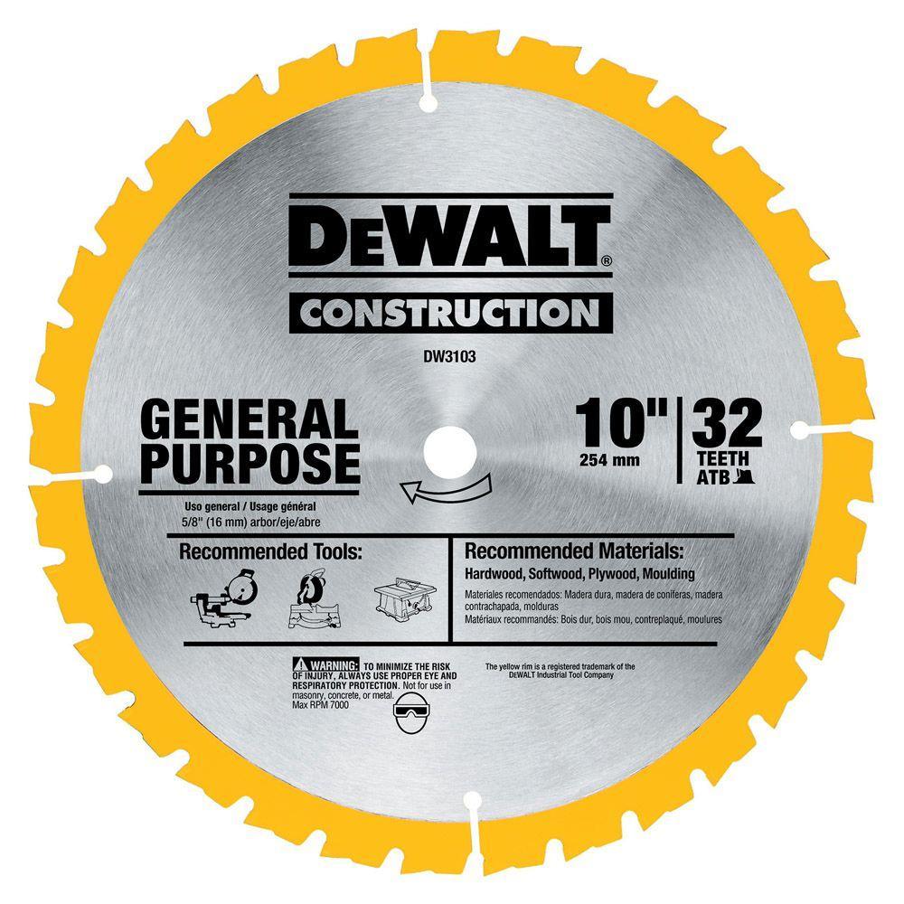 Dewalt Construction 10 inch 32-Teeth Saw Blade by DEWALT