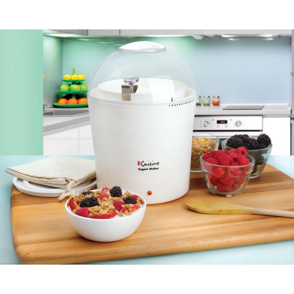 Euro cuisine 2 qt yogurt maker ym260 the home depot for Cuisine yourte