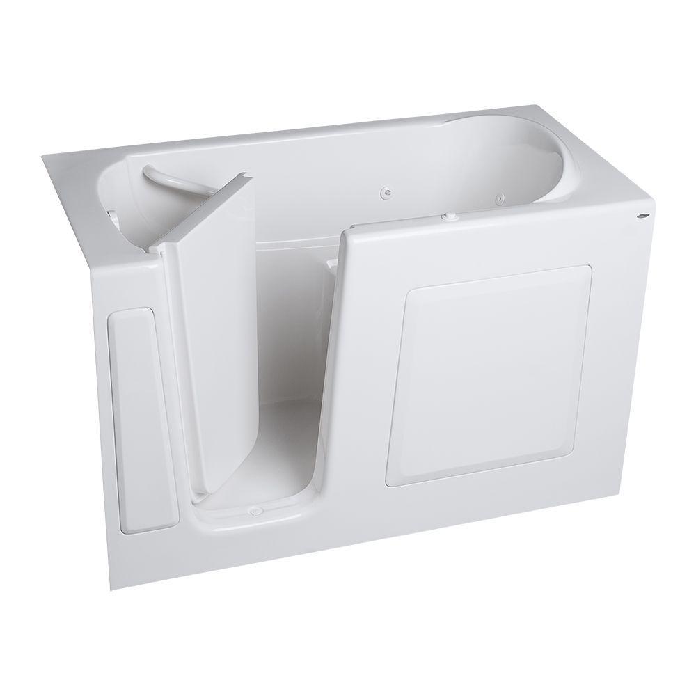 Gelcoat Standard Series 60 in. x 30 in. Walk-In Whirlpool Tub