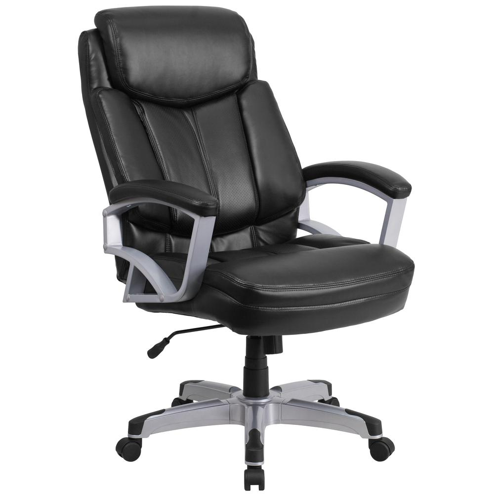 new arrival e9808 33dea Black Leather Office/Desk Chair