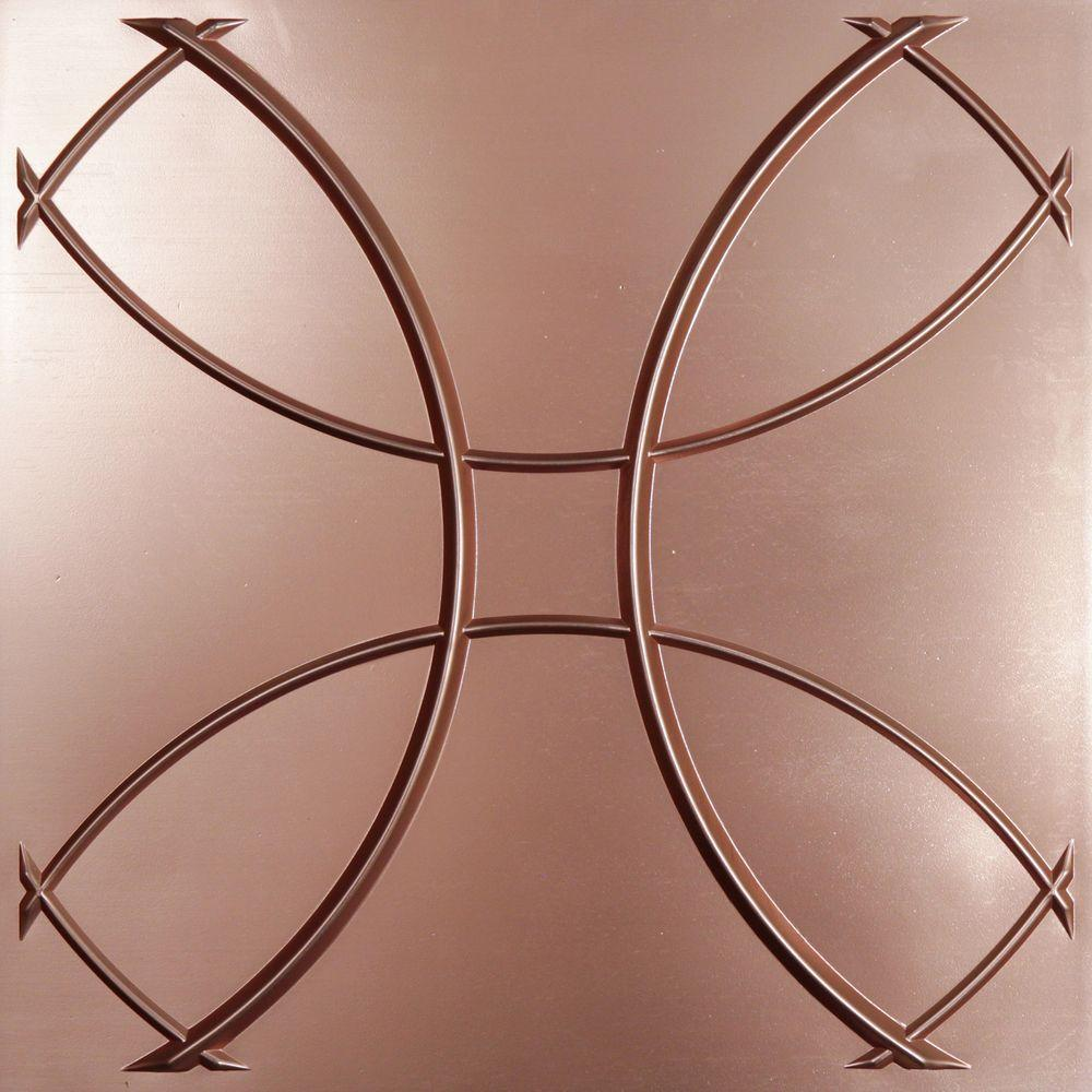 Ceilume Celestial Faux Copper Evaluation Sample, Not suitable for installation - 2 ft. x 2 ft. Lay-in or Glue-up Ceiling Panel