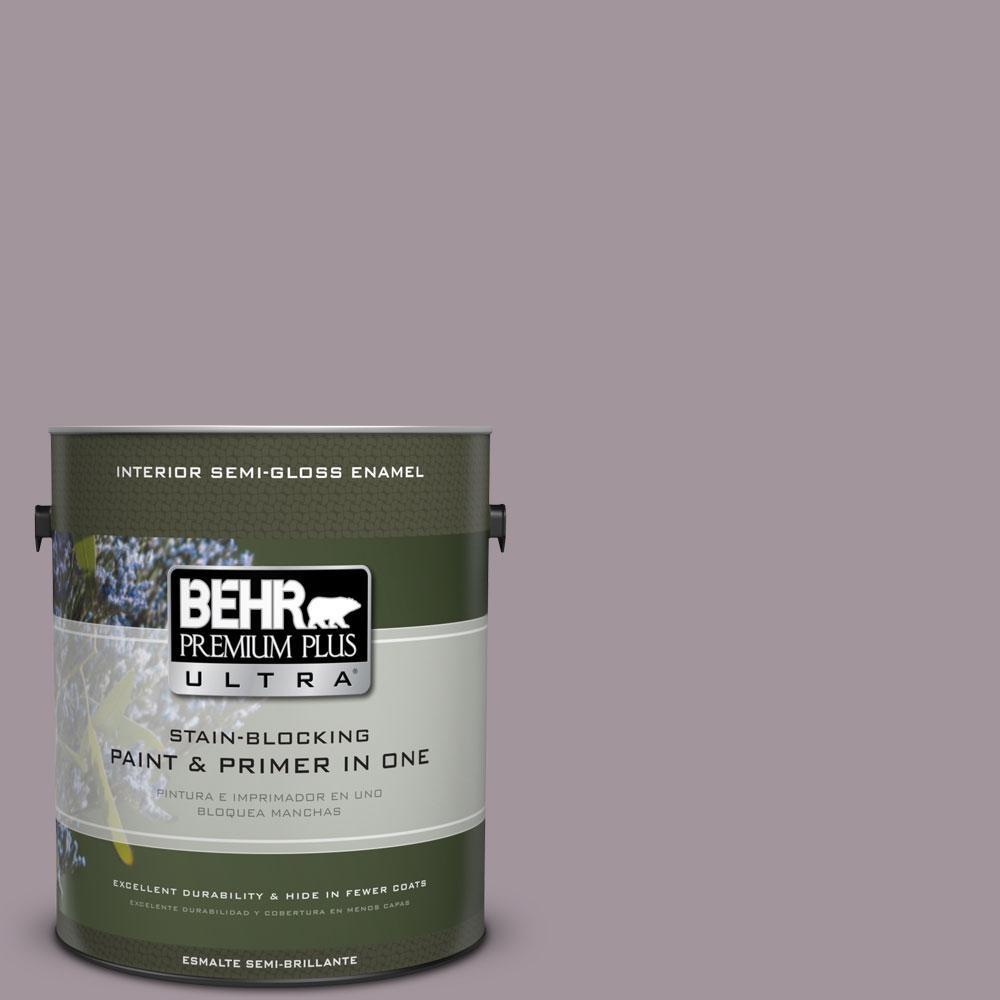 BEHR Premium Plus Ultra 1-gal. #PPU17-13 Heather Plume Semi-Gloss Enamel Interior Paint