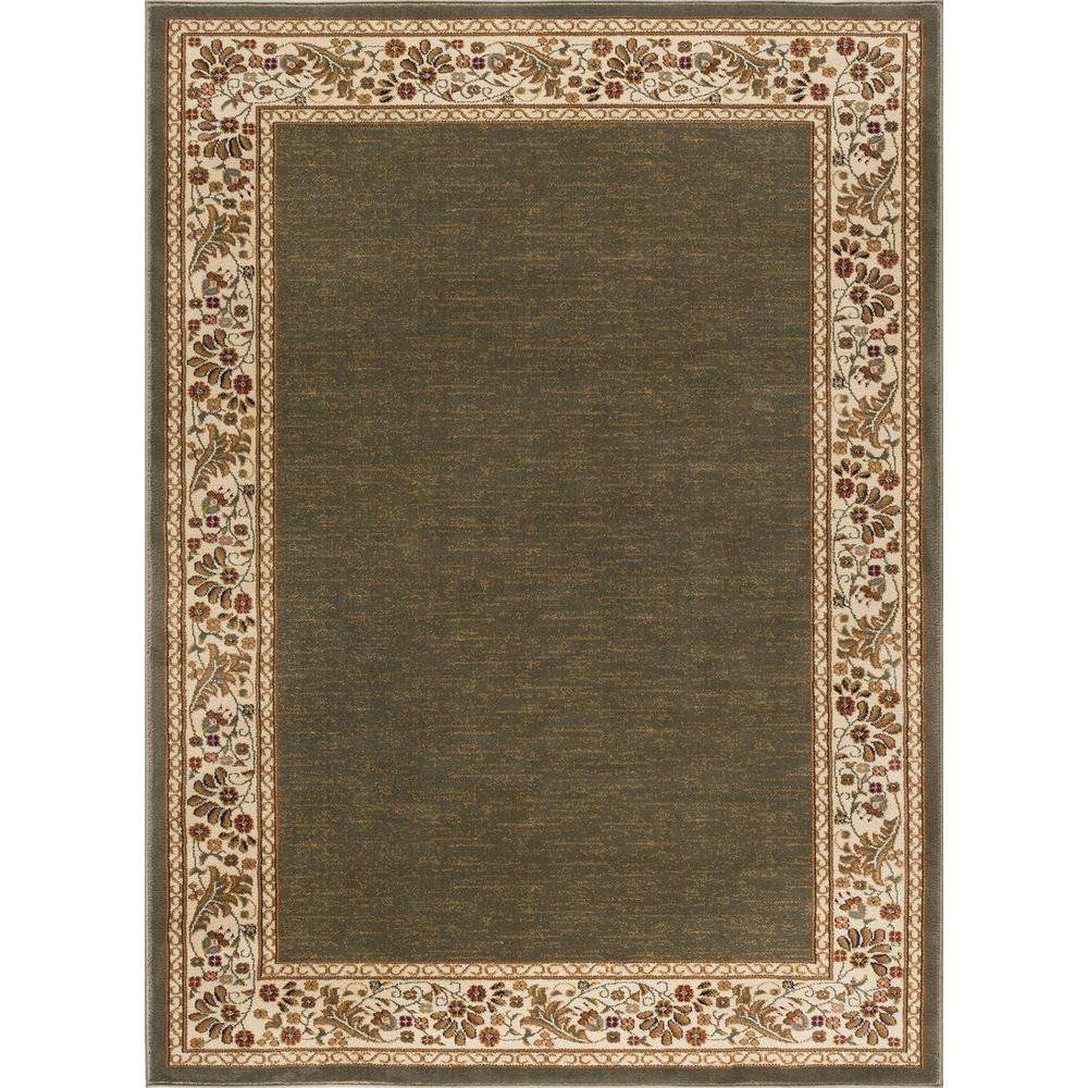 8x11 Modern Area Rugs: Tayse Rugs Sensation Green 8 Ft. X 10 Ft. Traditional Area