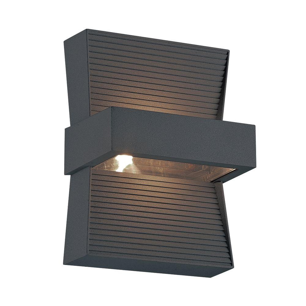 Mill Collection 1-Light Graphite Grey Outdoor LED Wall Mount
