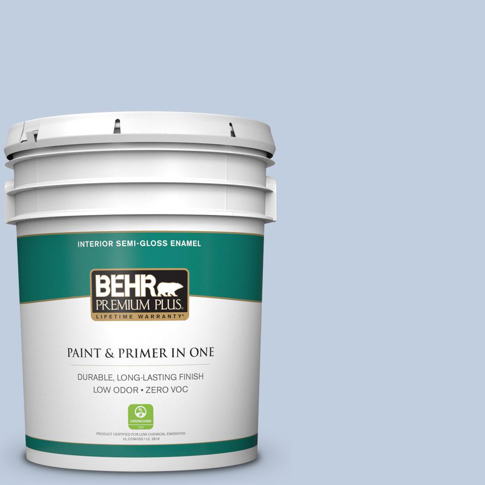 5 gal. #PPU15-17 Monet Zero VOC Semi-Gloss Enamel Interior Paint