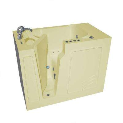 HD Series 52 in. Left Drain Quick Fill Walk-In Whirlpool and Air Bath Tub with Powered Fast Drain in Biscuit