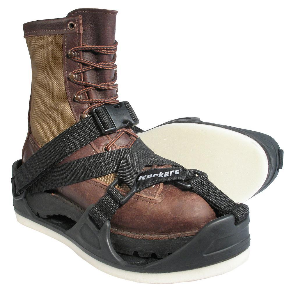 TuffTrax 3-in-1 Overshoe Size Medium Black Molded Rubber with Interchangeable Soft Foam Soles