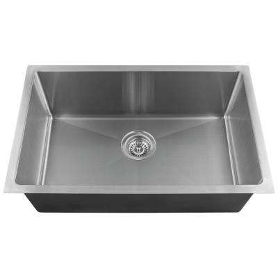 Undermount Stainless Steel 17.88 in. Single Bowl Kitchen Sink