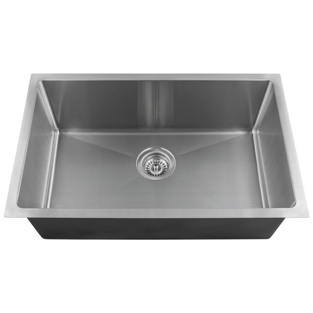 mr direct undermount stainless steel 1788 in single bowl kitchen sink - Home Depot Kitchen Sinks