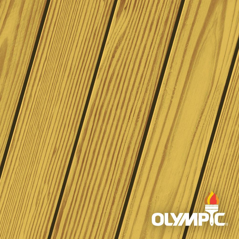 Olympic Maximum 1 gal. Honey Gold Exterior Stain and Sealant in One Low VOC