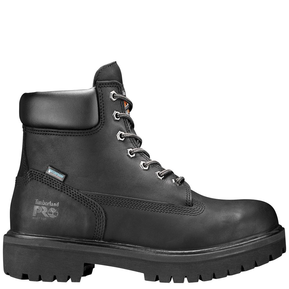 9923472ab71 Timberland PRO Men's Work Boot 6 in. Direct Attach Black Soft Toe  Waterproof Insulated Size 13M