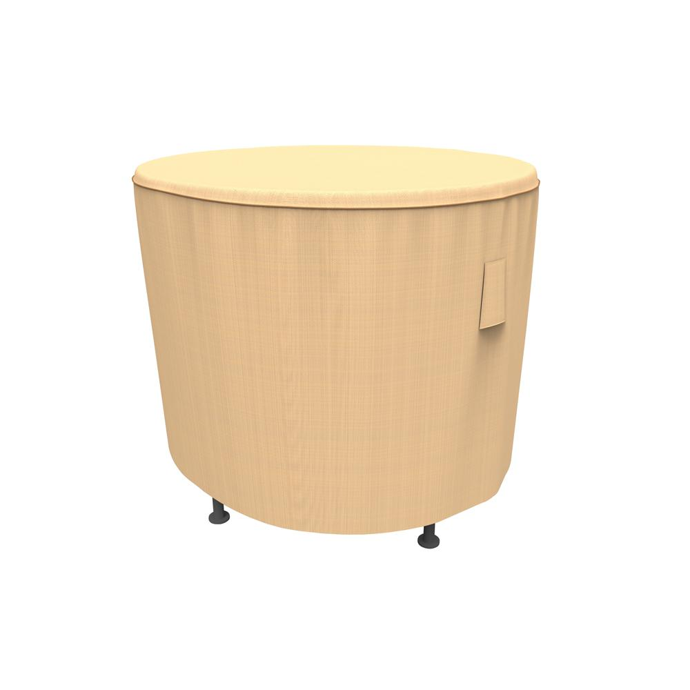 Budge NeverWet and Reg Savanna Small Tan Round Patio Table Cover