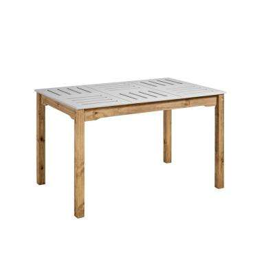 Stillwell 47.25 in. Gray and Natural Wood Rectangular Table