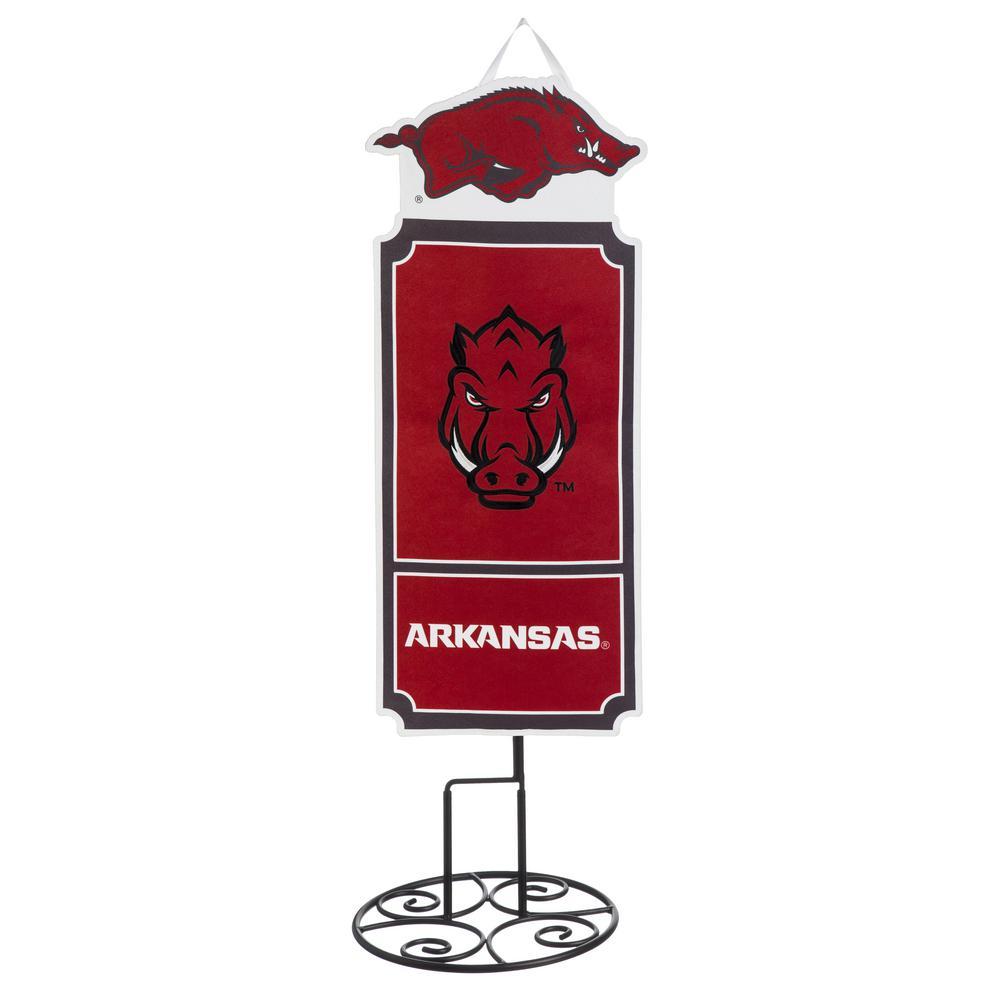 1-1/10 ft. x 3 ft.  University of Arkansas Statement Stake