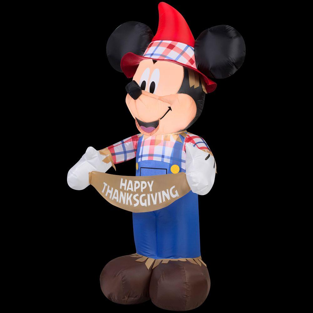 Gemmy 3.5 ft. H Inflatable Mickey as Scarecrow