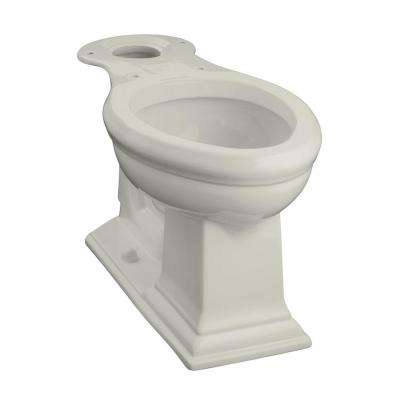 Memoirs Comfort Height Elongated Toilet Bowl Only in Ice Grey