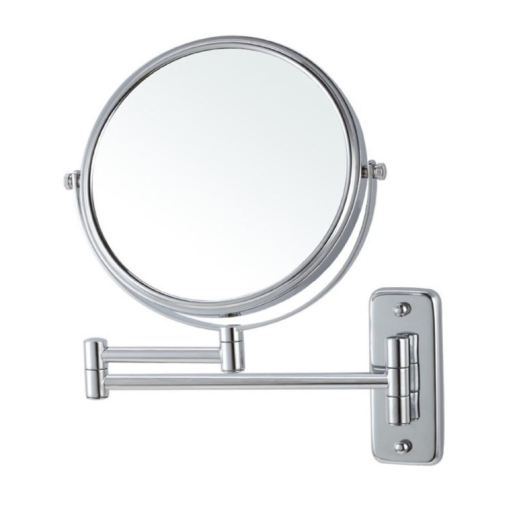 Nameeks Glimmer 8 in. x 8 in. Wall Mounted 3x Round Makeup Mirror in Chrome Finish